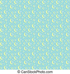 Night seamless pattern for textile or paper.