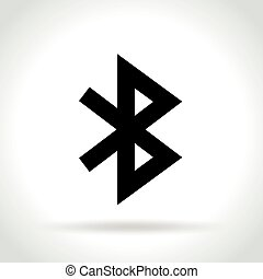 bluetooth icon on white background - Illustration of...