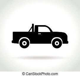 Impression - Illustration of pick up icon on white...