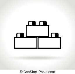 building blocks icon on white background