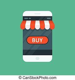 Shopping online - e-commerce app for smartphone