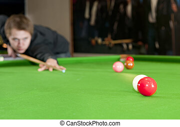 Colliding snooker balls - Cue ball colliding with a red ball...