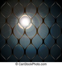Moonlight behind bars background