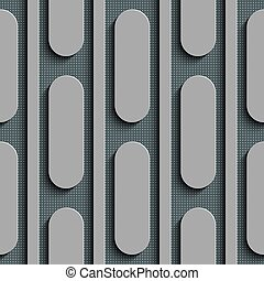 Seamless Ellipse Pattern. Vector Gray Background
