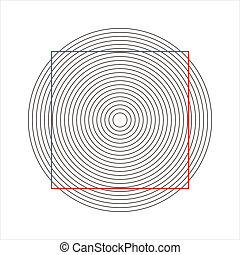 optical illusion - concentric circles that makes a normal...