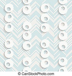 Seamless Chaotic Circles and Line Pattern. Vector Abstract...