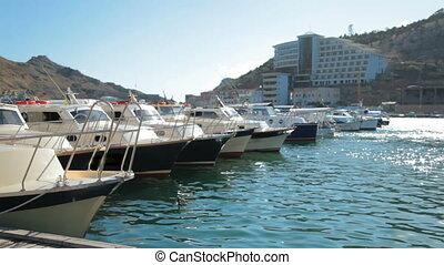 Marina with yachts