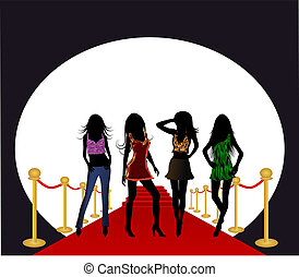 Fashion Girls on the Red Carpet