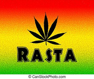 Rastafarian Rasta Background - Illustration of a Jamaican...