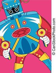 Cartoon Sci-Fi Robot