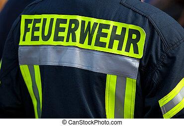 German fire fighter jacket