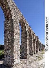 Ancient aqueduct - Obidos - Portugal - Ancient aqueduct in...