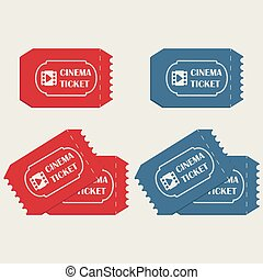 Cinema tickets in red