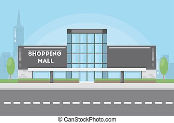 Shopping mall building.
