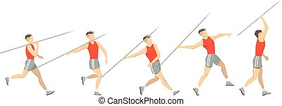 Javelin throw set.