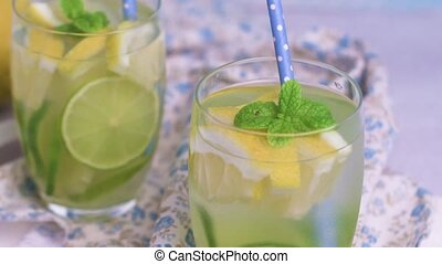 Summer citrus fruits drink