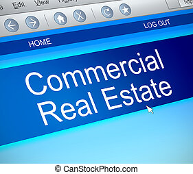 Commercial real estate concept. - 3d Illustration depicting...