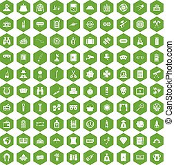 100 adult games icons hexagon green - 100 adult games icons...