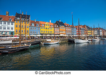Nyhavn district is one of the most famous landmarks in...