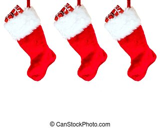 Christmas Stocking - A Christmas Stocking isolated against a...