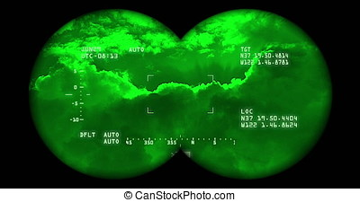 Searching the sky with night vision binoculars includes...