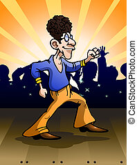 ska dance style - illustration of a dazzling dancer do ska...
