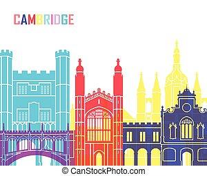 Cambridge skyline pop in editable vector file