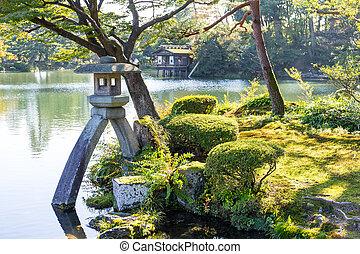Japanese garden in Kanazawa