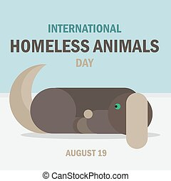 International Homeless Animals Day Celebration Banner....