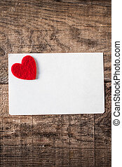 Valentine's Day wallpaper with invitation Card with red...