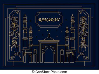Illustration for the holiday of Ramadan.eps