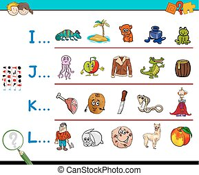 first letter of a word activity worksheet - Cartoon...