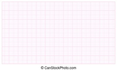 Millimeter Paper Vector. Pink. Graphing Paper For Technical Engineering Projects. Grid Paper Measure Illustration