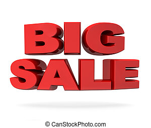 Big sale promotion concept isolated