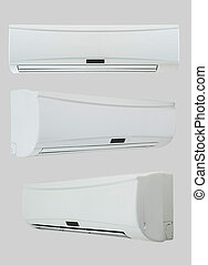 air conditioner on a light background - household air...
