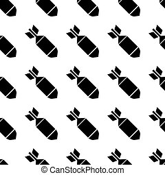 Air bomb seamless pattern