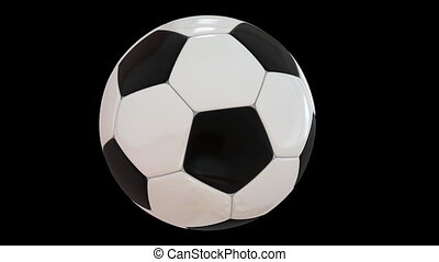 Rotating Football - Very highly detailed soccer ball...