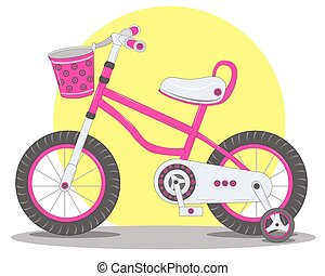 Pink childrens Bicycle