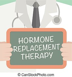 Hormone Replacement Therapy - minimalistic illustration of a...