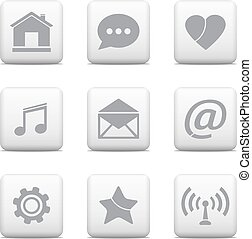 Communication buttons set