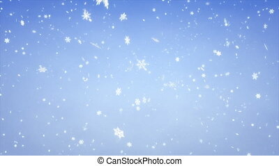 Snow Fall - 1080p HD Stock Video background of Snowflakes...