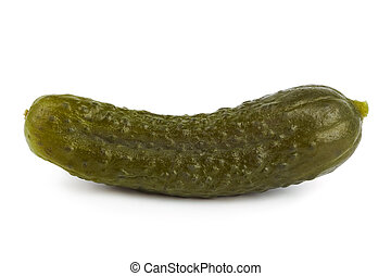 Pickles cucumber isolated on white background