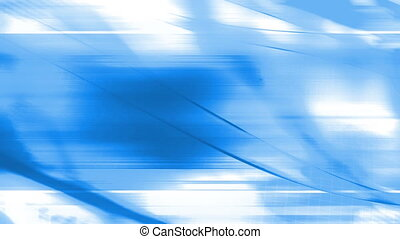 Blue and white flowing animated abstraction CG looping...