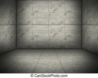 nice concrete room - An image of a nice concrete room...