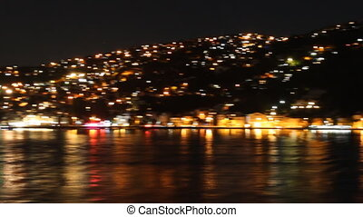 Istanbul's hills at night