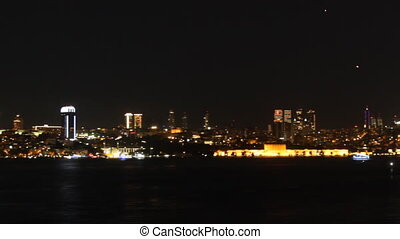 View of Istanbul at night