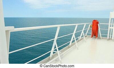 Ferry Boat Deck At Sea - A peaceful and picturesque view...
