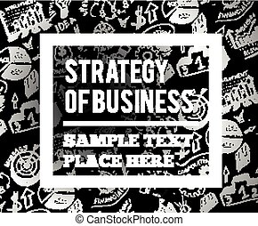 Business vector illustration with hand drawn symbols.