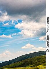 beautiful late summer landscape in carpathians. few...