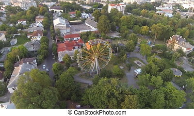 Ferris wheel in the center of the city